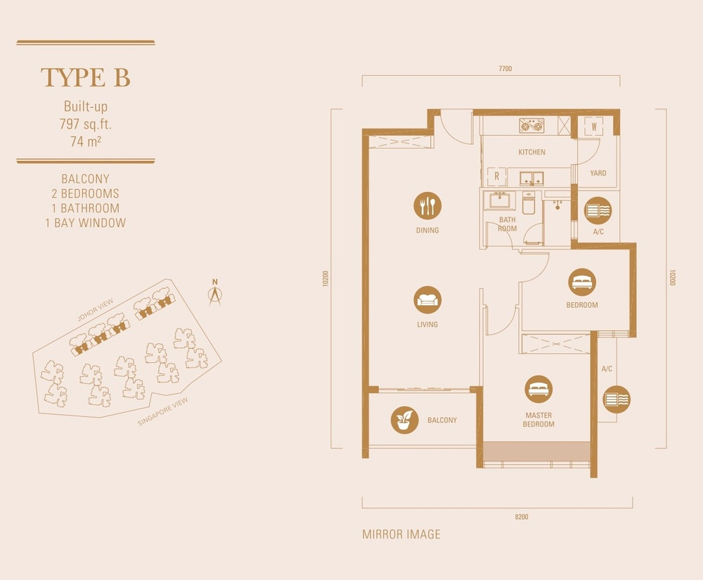 R&F Princess Cove Type B Floor Plan
