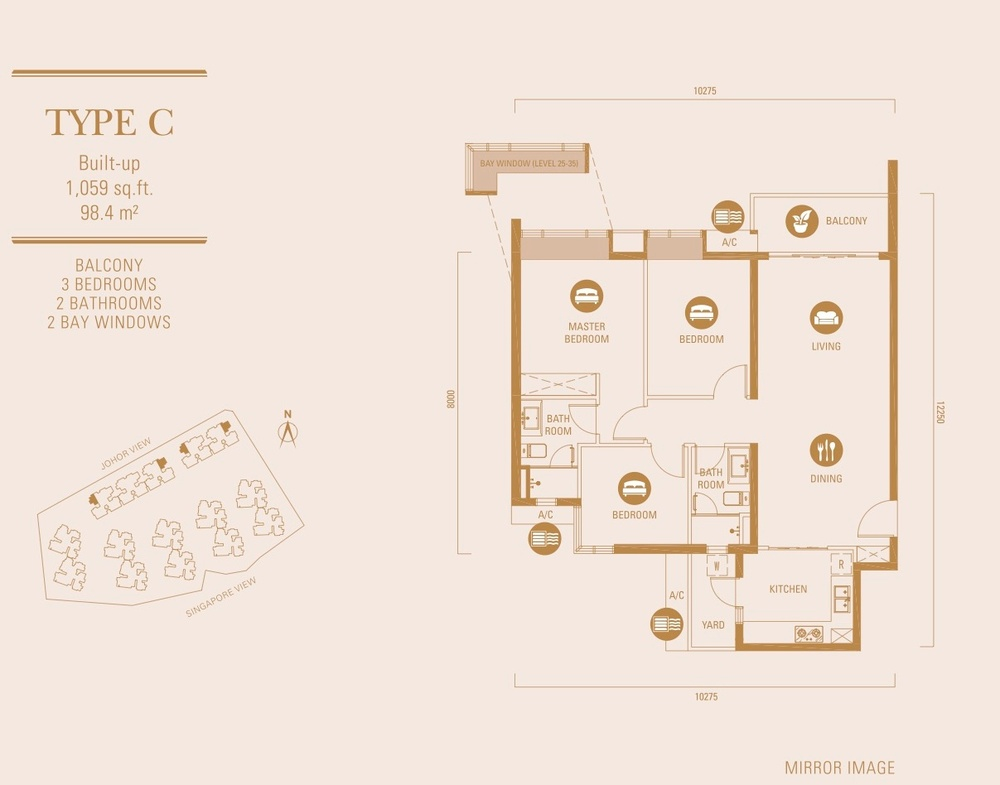R&F Princess Cove Type C Floor Plan