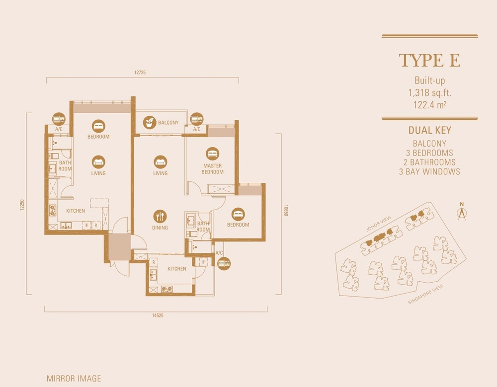 R&F Princess Cove Type E Floor Plan