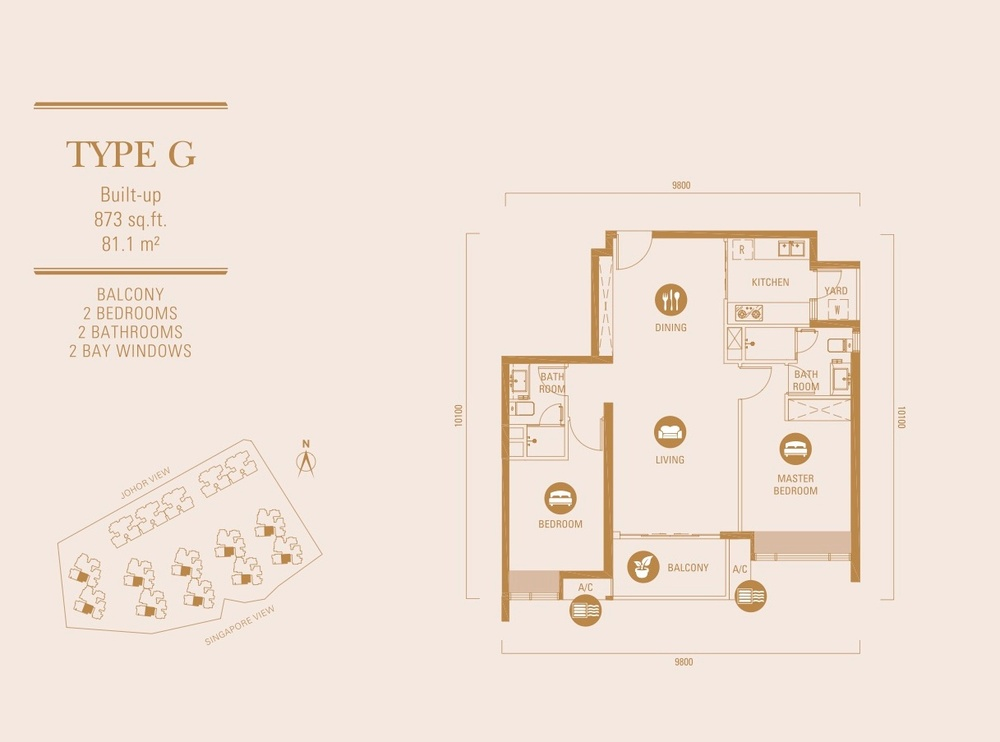 R&F Princess Cove Type G Floor Plan