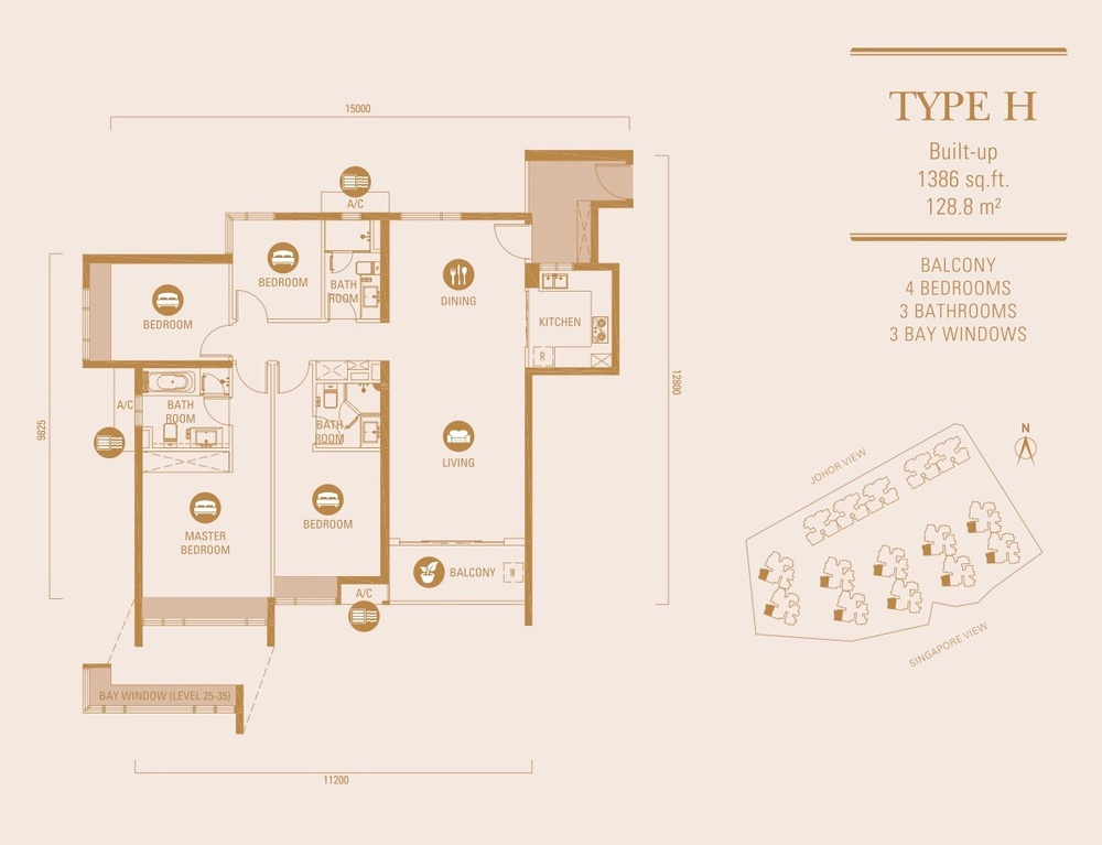 R&F Princess Cove Type H Floor Plan