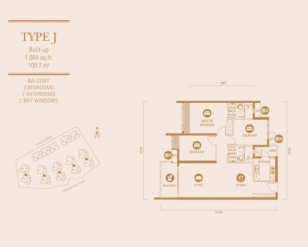 R&F Princess Cove Type J Floor Plan