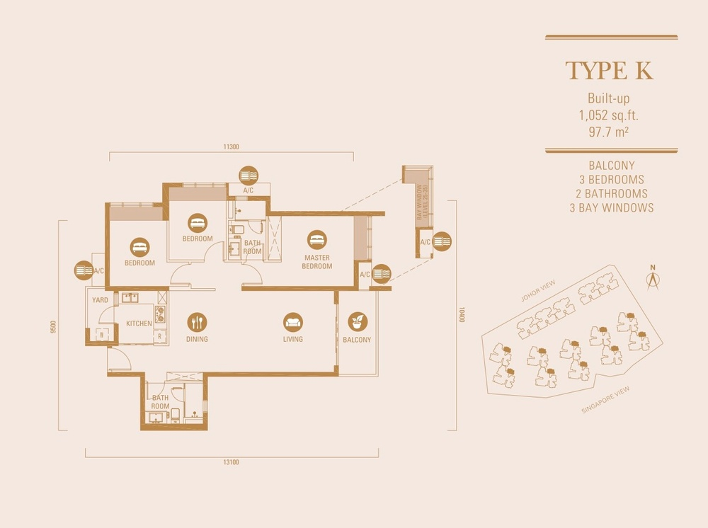 R&F Princess Cove Type K Floor Plan
