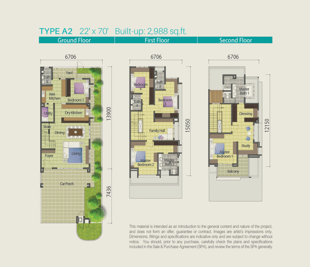 Lake Point Residence Type A2 Floor Plan