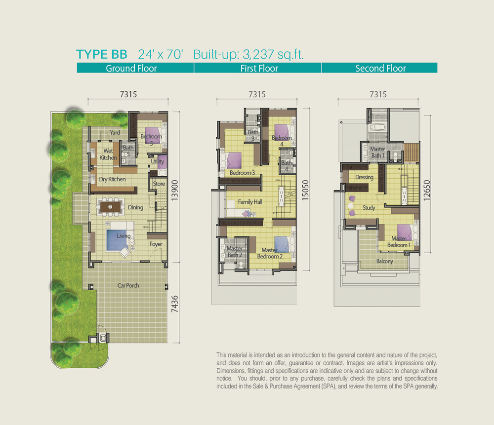 Lake Point Residence Type BB Floor Plan