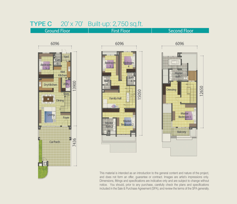 Lake Point Residence Type C Floor Plan