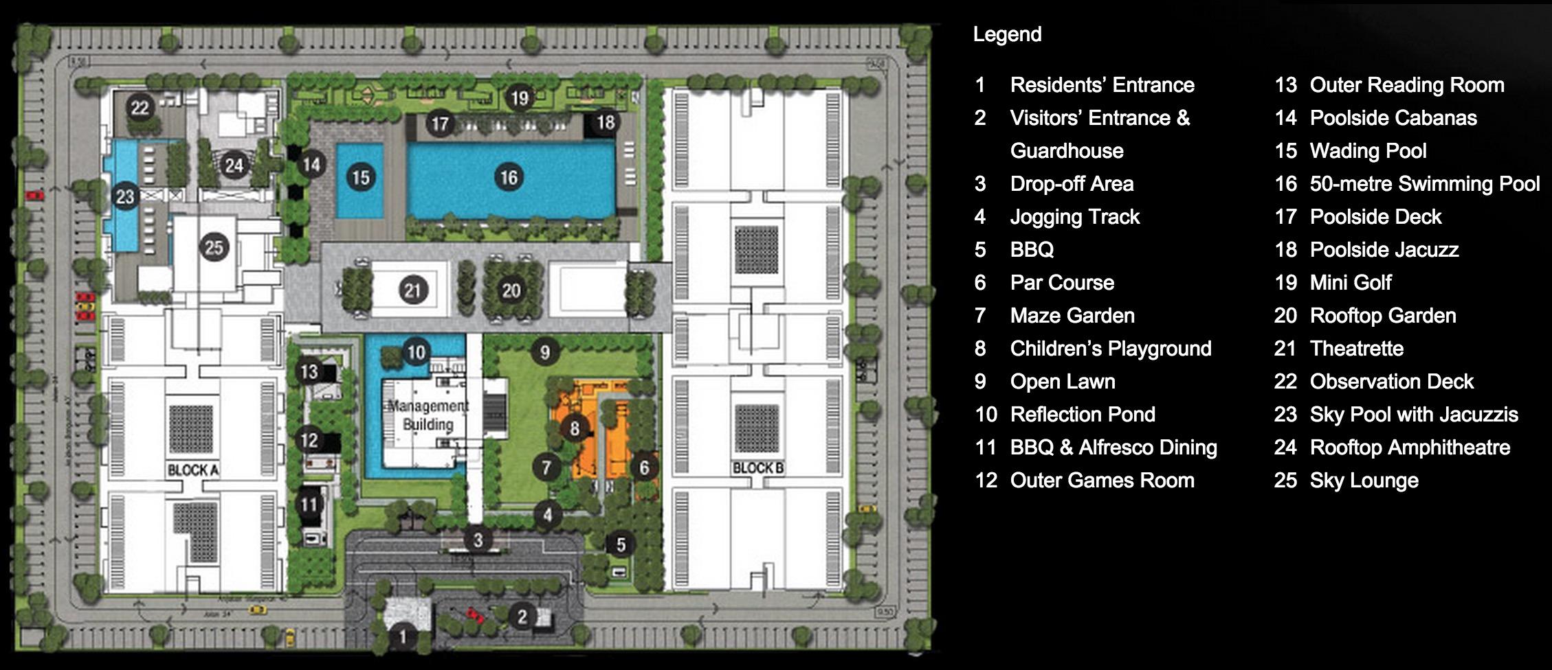 Site Plan of X2 Residency