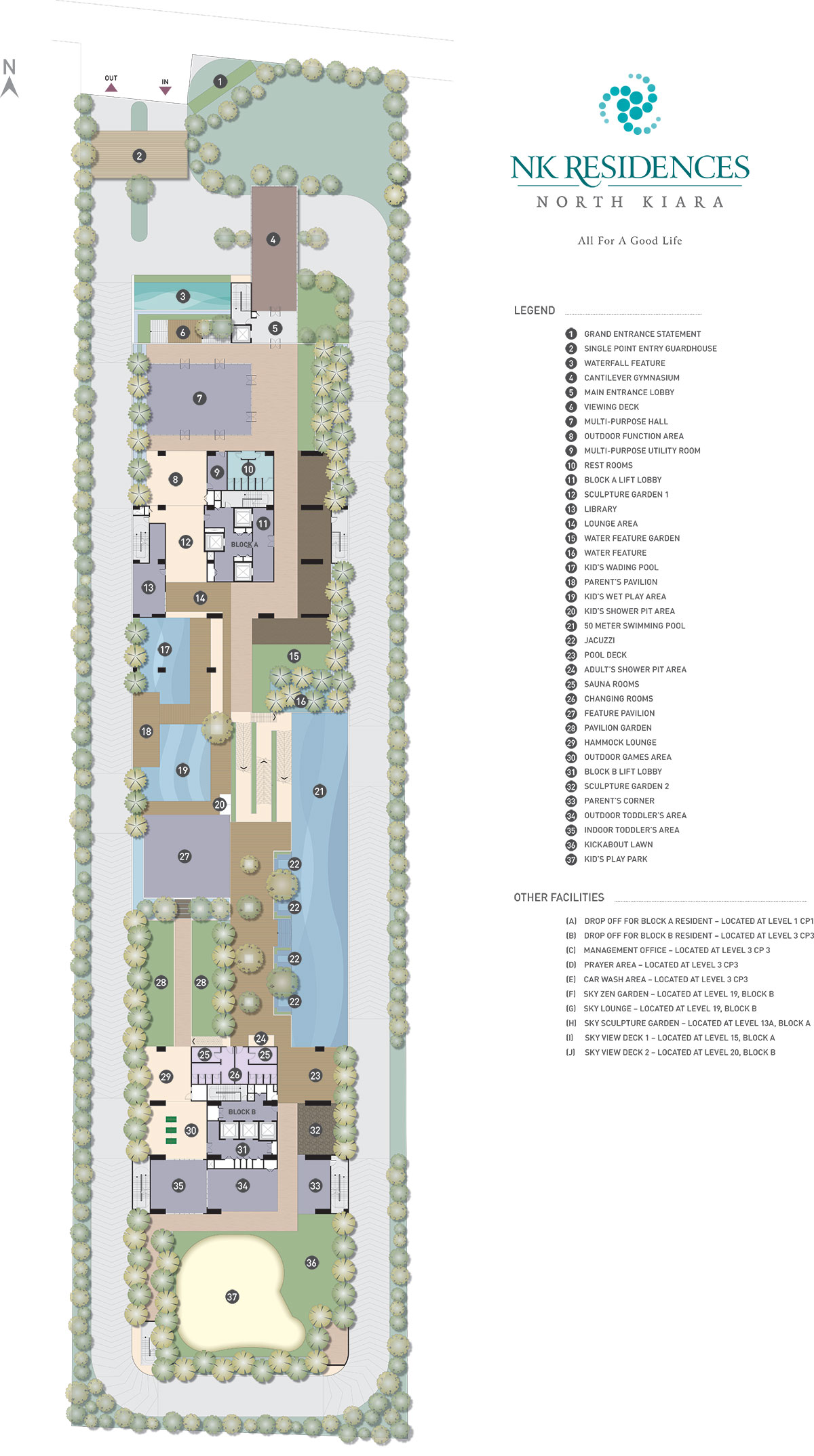 Site Plan of NK Residences