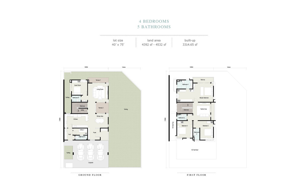 Arahsia Type F Floor Plan