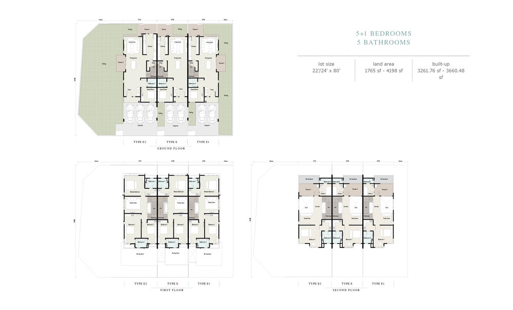 Arahsia Type E/E1/E2 Floor Plan