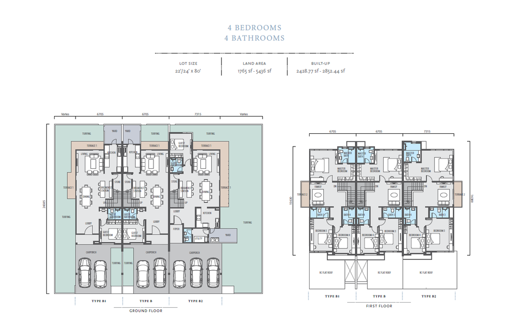 Bayan Type B/B1/B2 Floor Plan