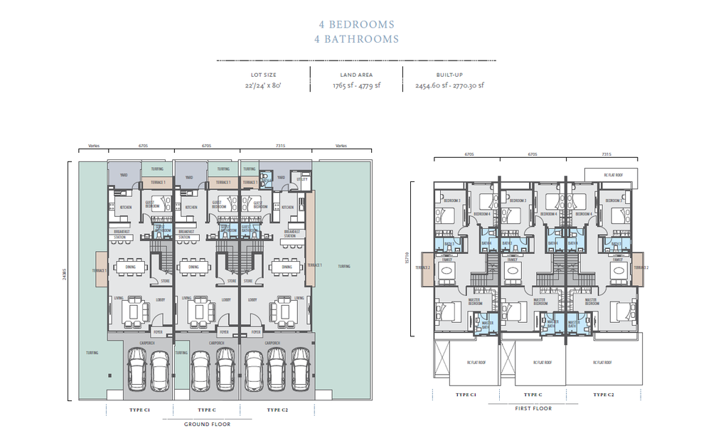 Bayan Type C/C1/C2 Floor Plan