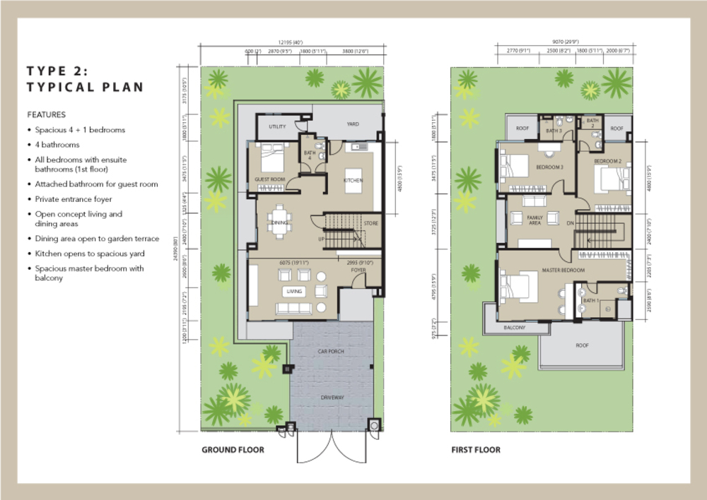 Aviva Green Type 2 Floor Plan