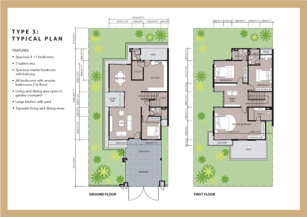 Aviva Green Type 3 Floor Plan