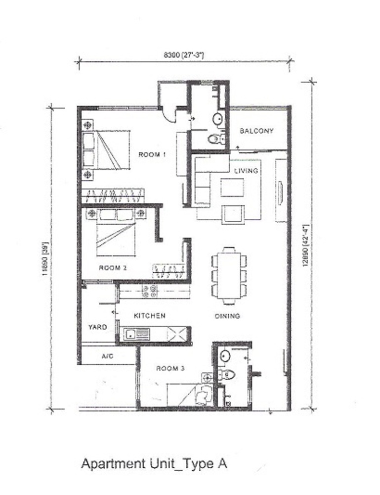 Silk Sky Type A Floor Plan