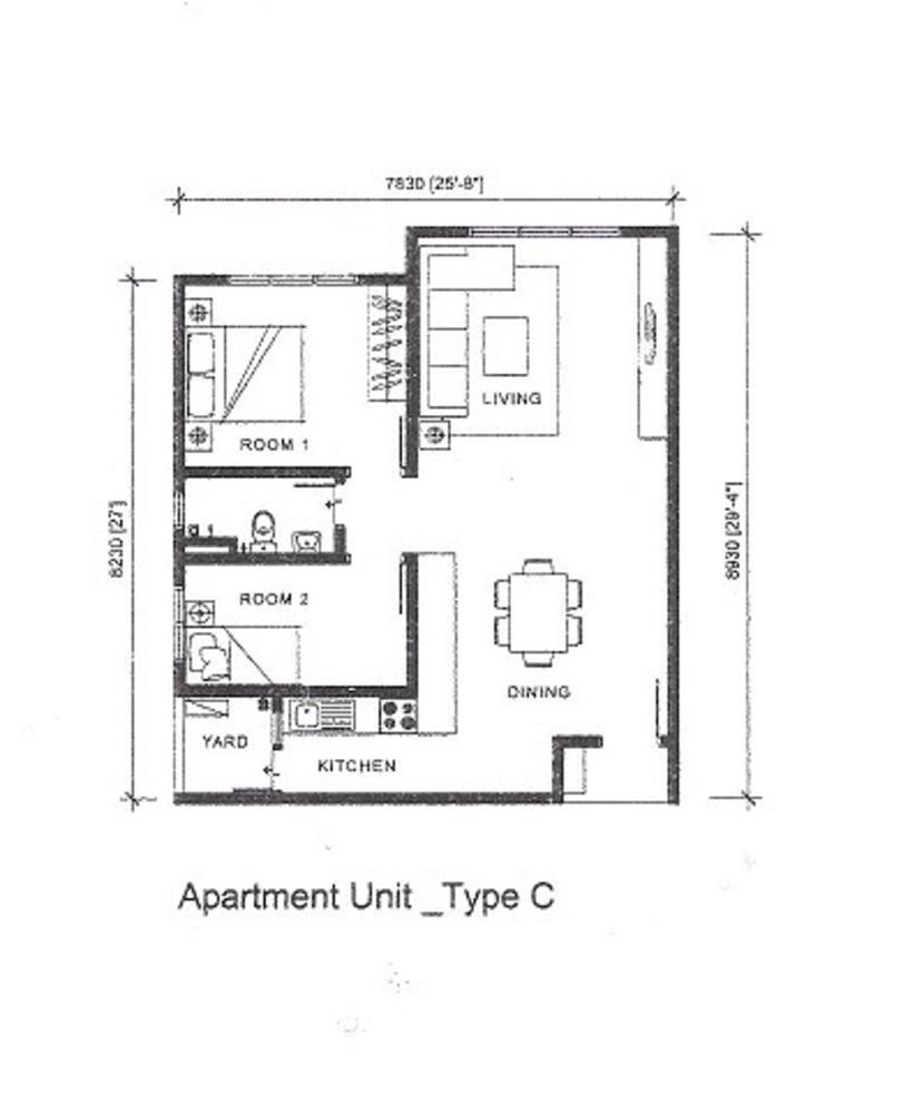 Silk Sky Type C Floor Plan