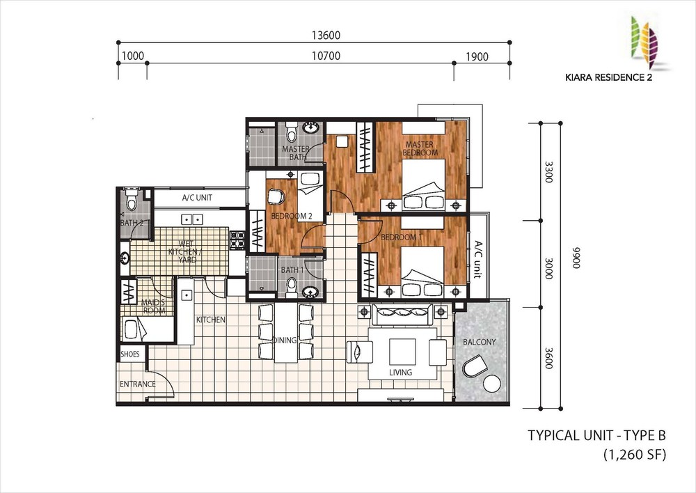 Kiara Residence 2 Type B Floor Plan