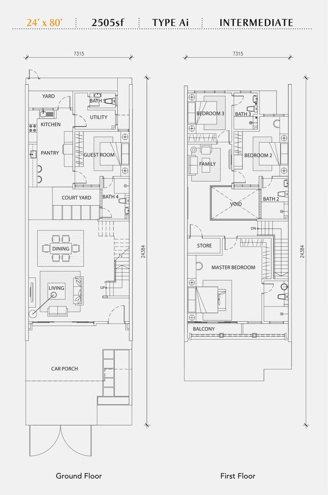 Perennia Type Ai (Intermediate) Floor Plan