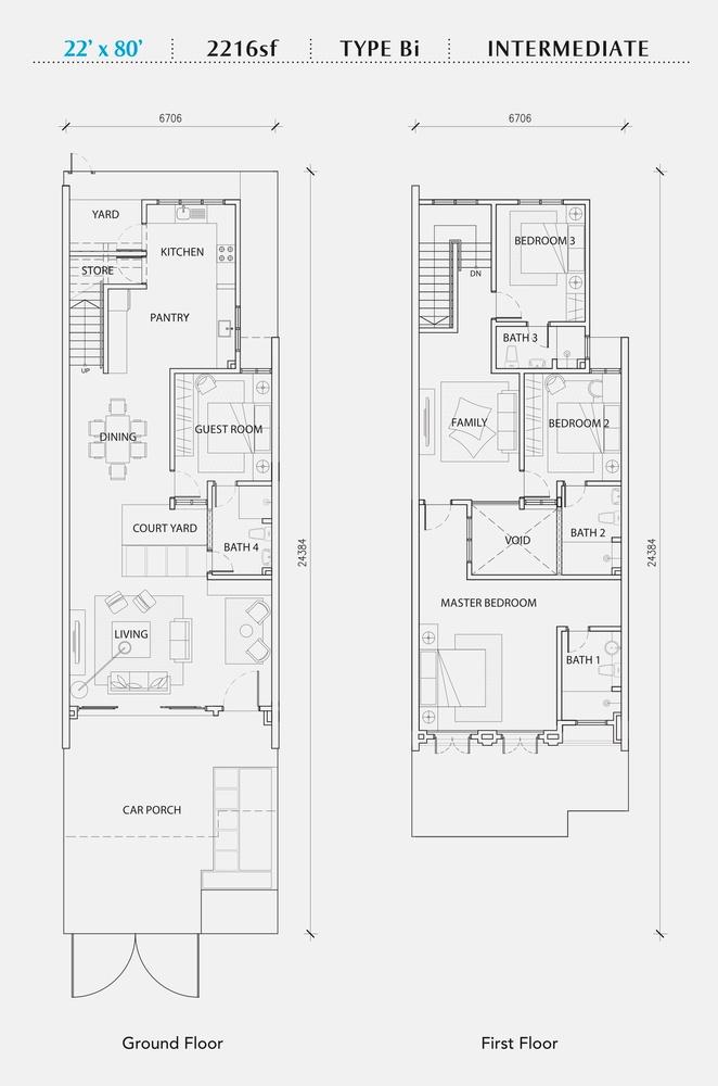 Perennia Type Bi (Intermediate) Floor Plan