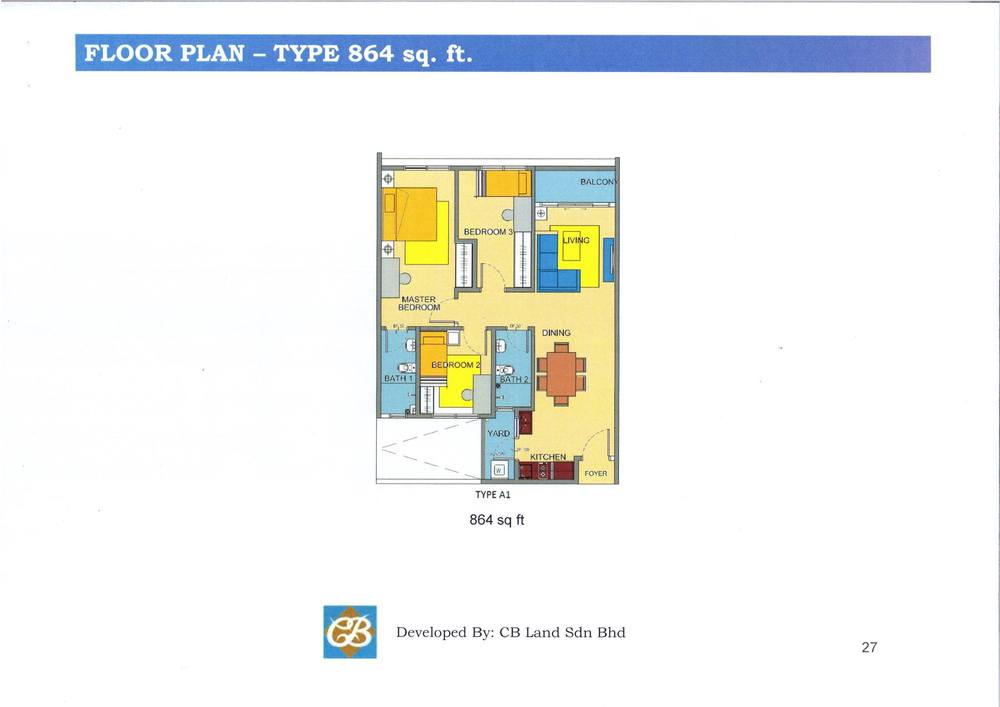 Alam Sanjung Type A1 Floor Plan