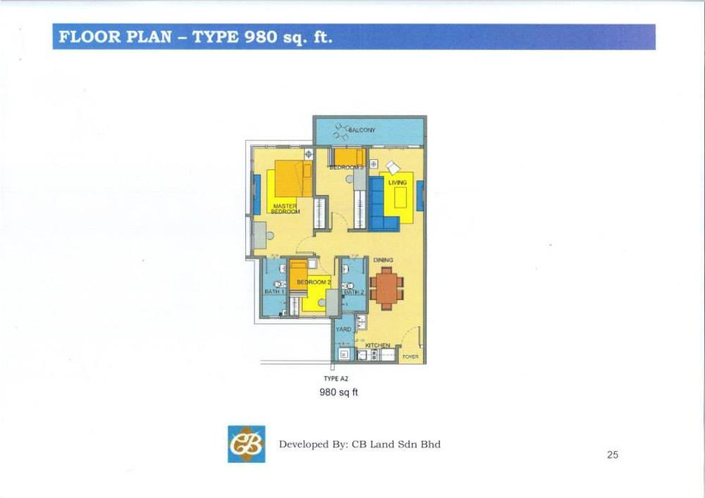 Alam Sanjung Type A2 Floor Plan