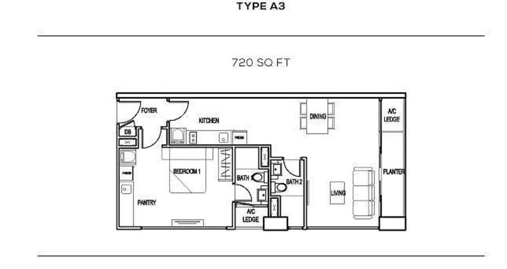The Colony Type A3 Floor Plan