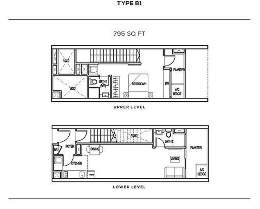 The Colony Type B1 Floor Plan