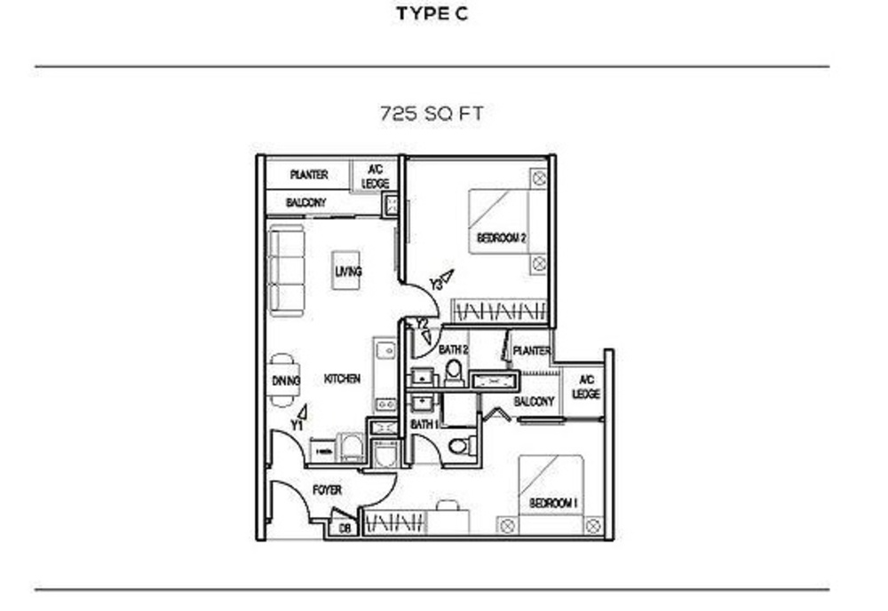 The Colony Type C Floor Plan
