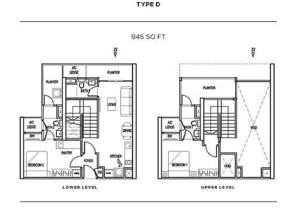 The Colony Type D Floor Plan