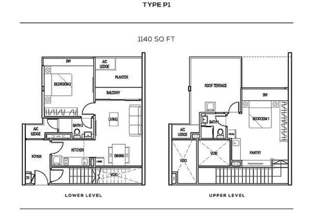 The Colony Type P1 Floor Plan