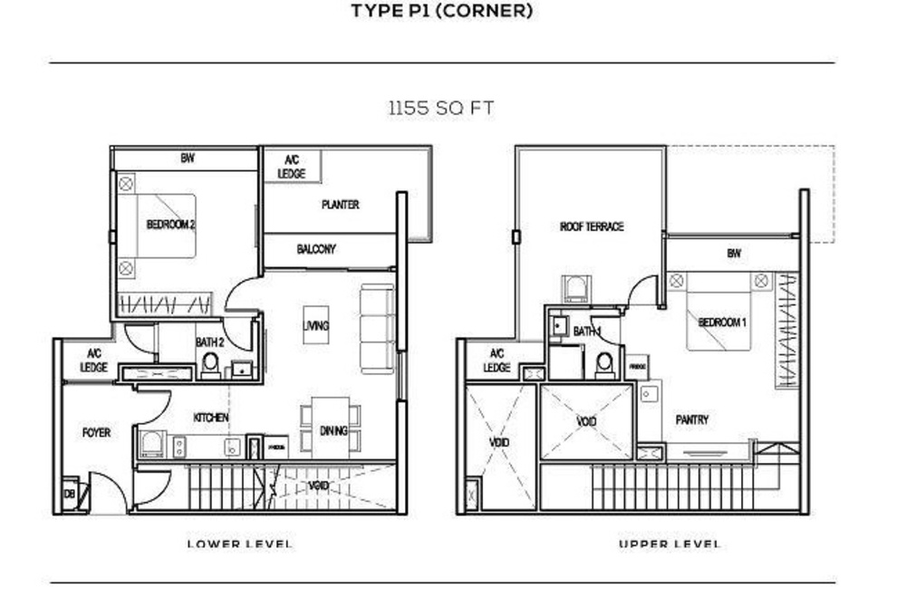 The Colony Type P1 (corner) Floor Plan