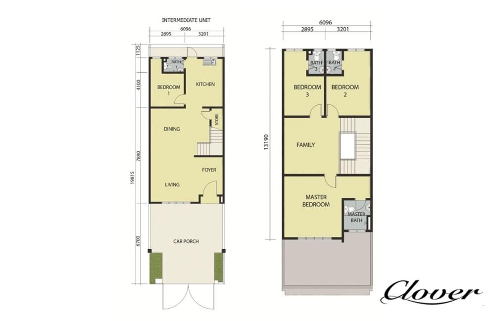 Semenyih Parklands Phase 2B (Clover) Floor Plan