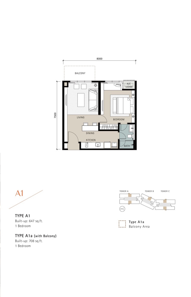 Novum Type A1 Floor Plan