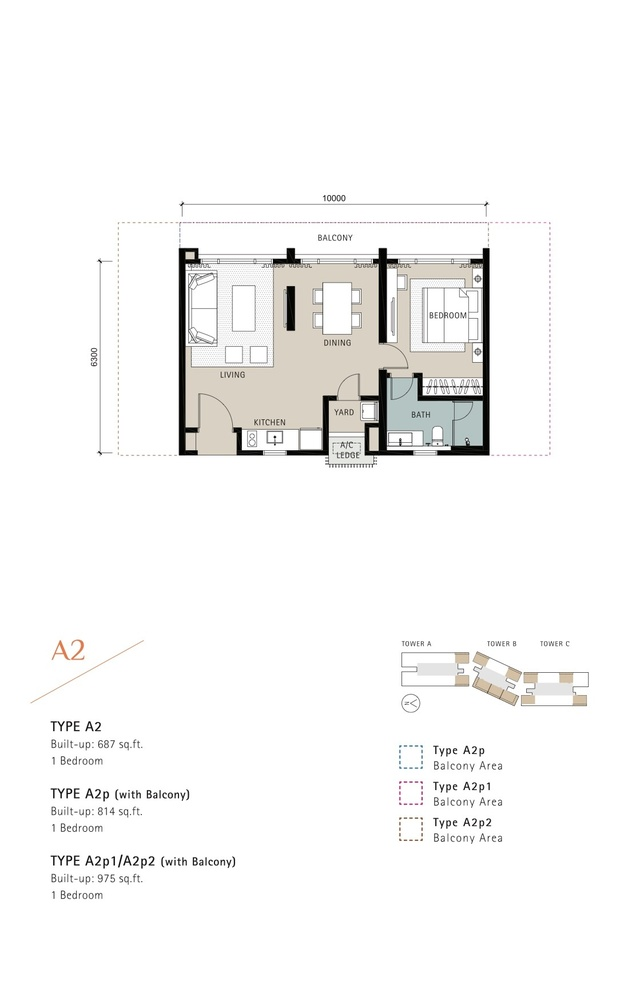 Novum Type A2 Floor Plan