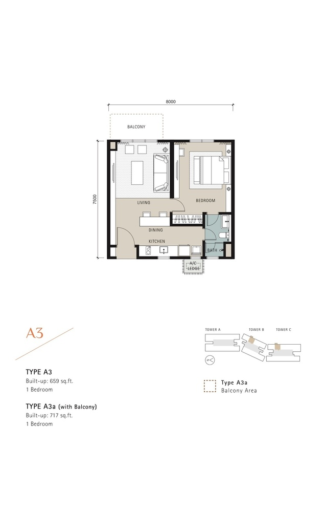 Novum Type A3 Floor Plan