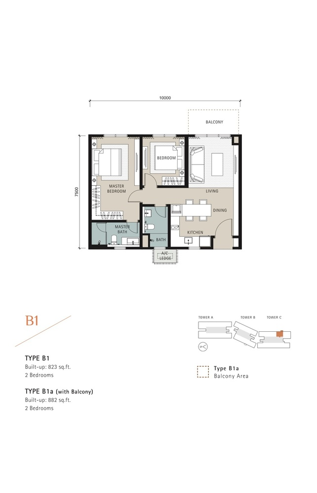 Novum Type B1 Floor Plan