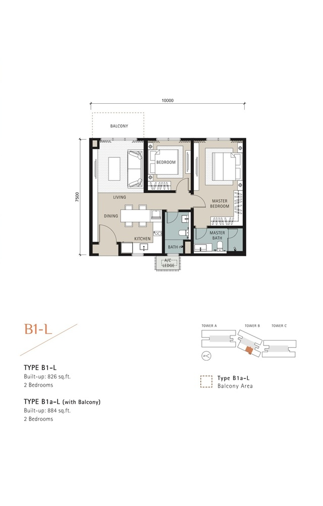 Novum Type B1-L Floor Plan