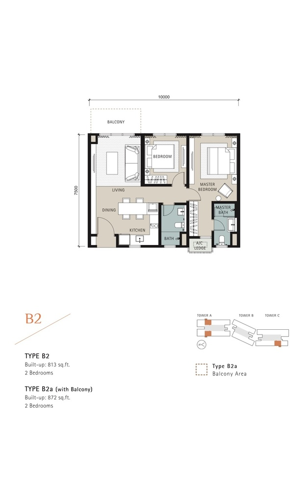 Novum Type B2 Floor Plan