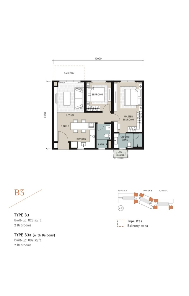 Novum Type B3 Floor Plan