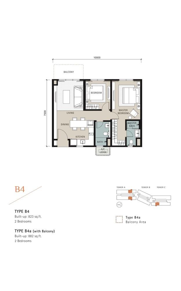 Novum Type B4 Floor Plan