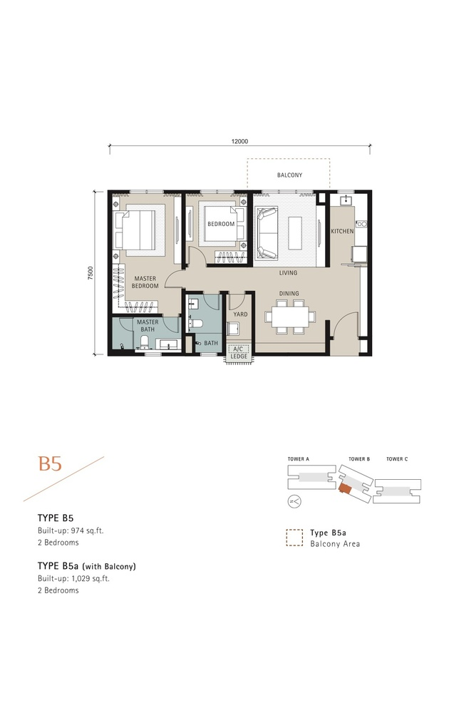 Novum Type B5 Floor Plan