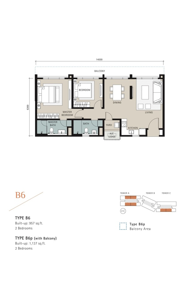 Novum Type B6 Floor Plan