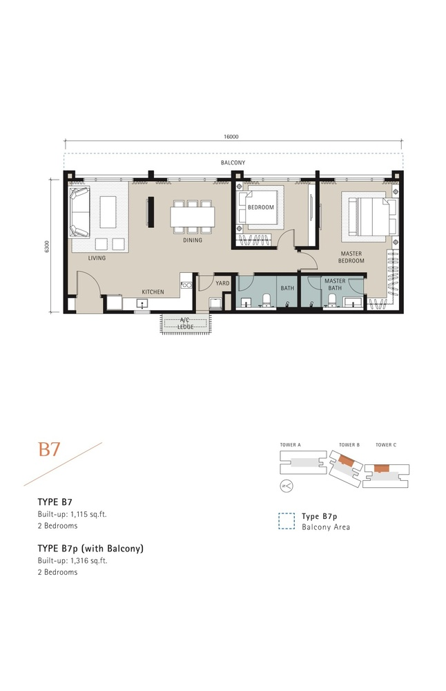 Novum Type B7 Floor Plan