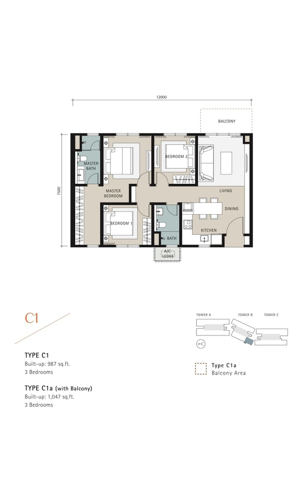 Novum Type C1 Floor Plan
