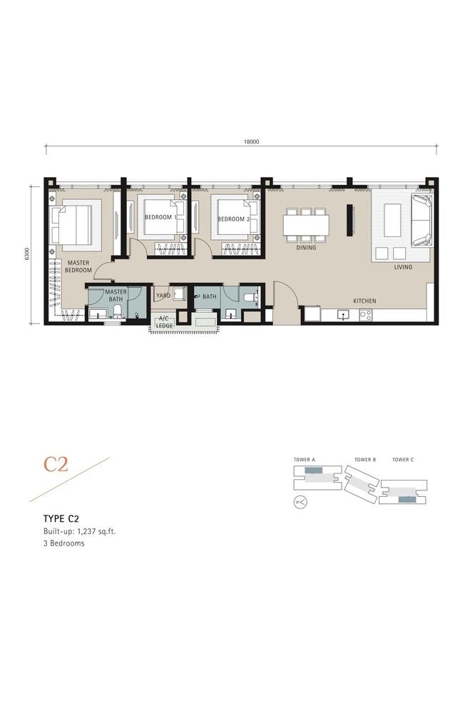 Novum Type C2 Floor Plan