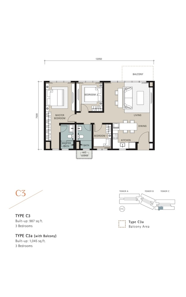 Novum Type C3 Floor Plan