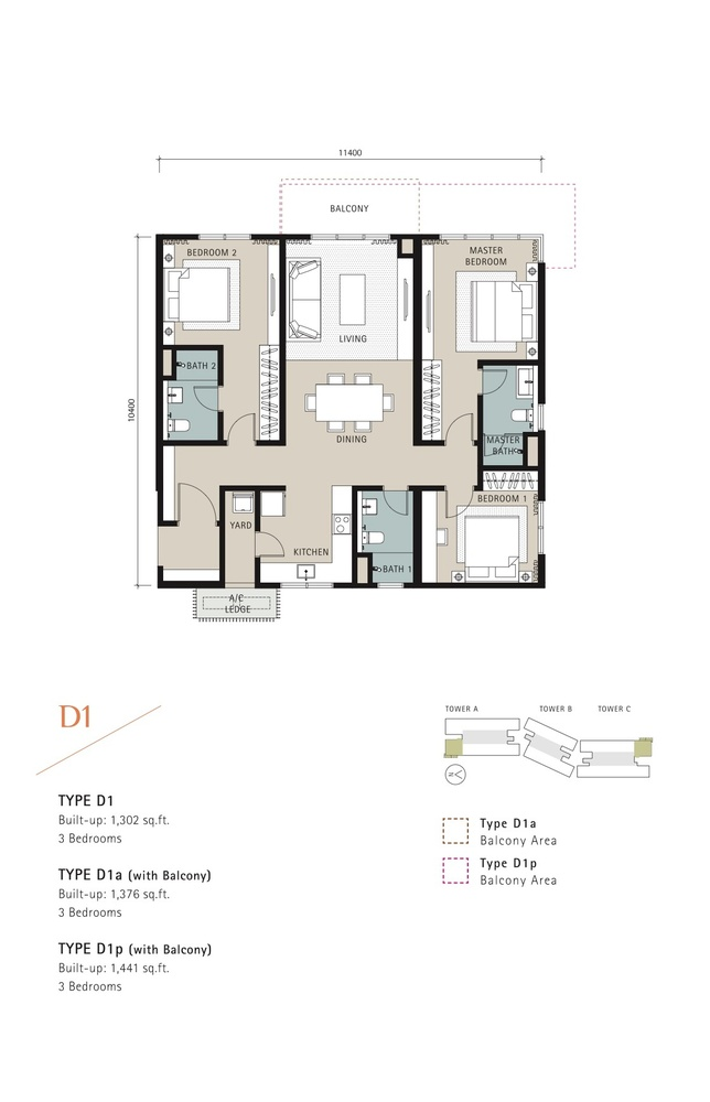 Novum Type D1 Floor Plan