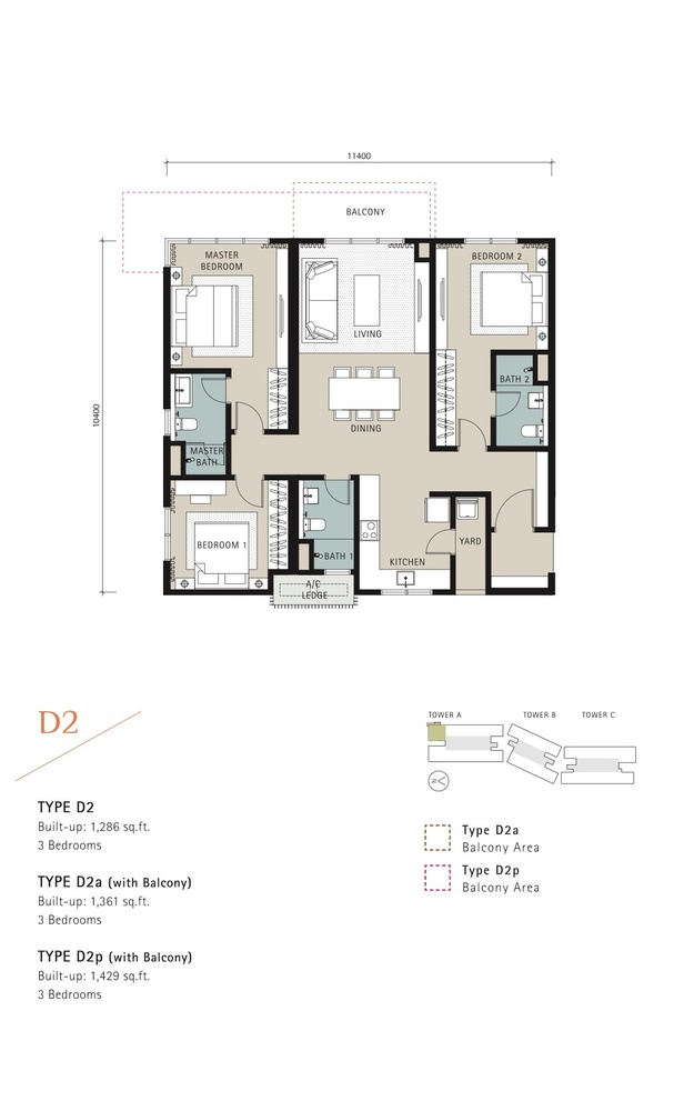 Novum Type D2 Floor Plan