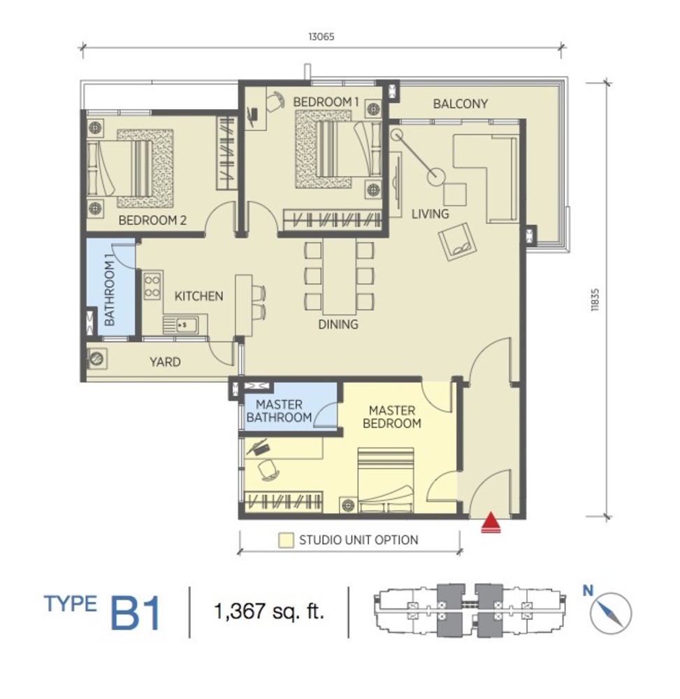 Saville @ Cheras Type B1 Floor Plan