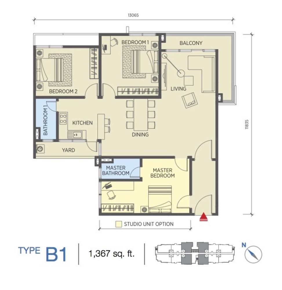 Saville @ Cheras Type B1 Floor Plan